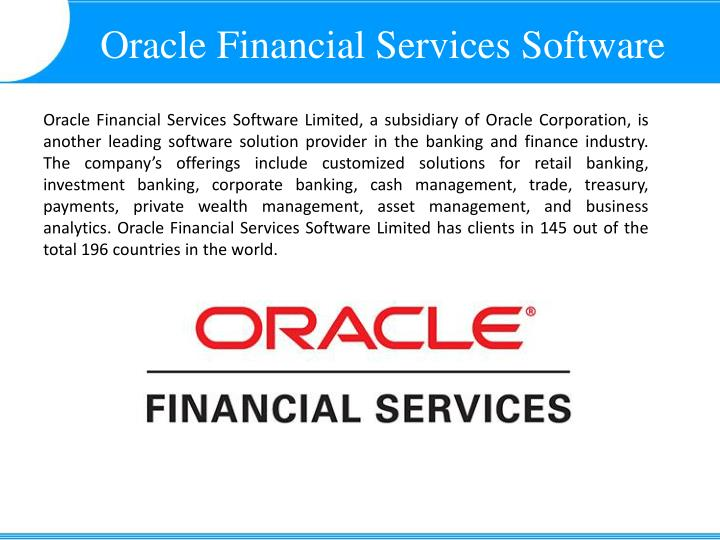 Oracle Financial Services Software