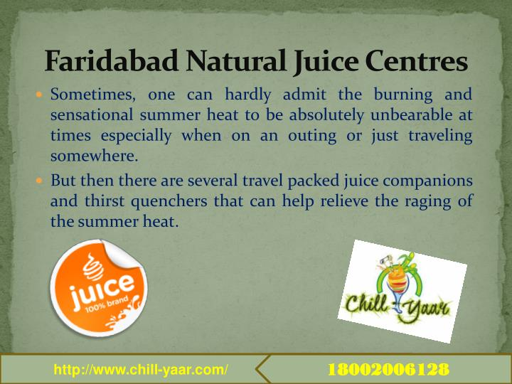Faridabad Natural Juice Centres