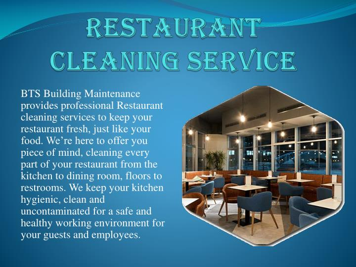 RESTAURANT CLEANING SERVICE