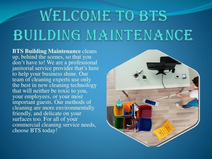Welcome to bts building maintenance