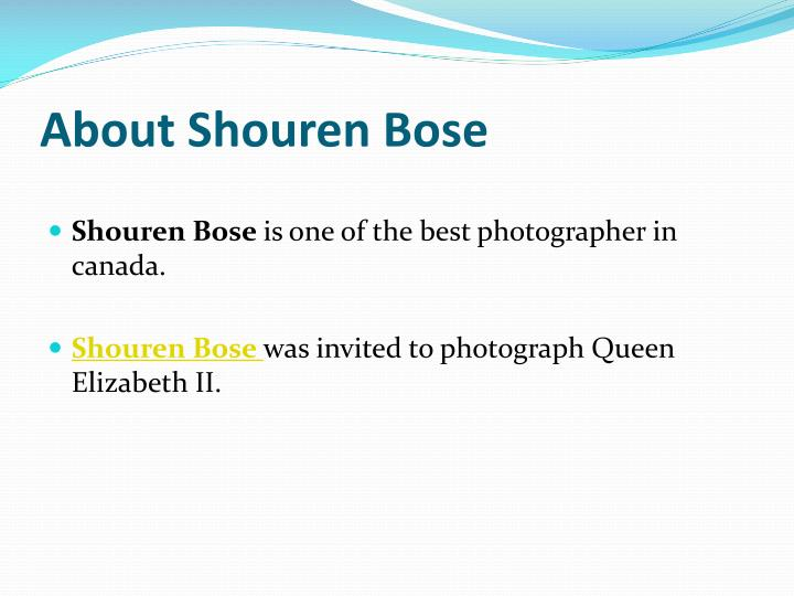 About Shouren Bose