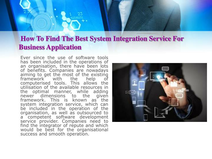 How To Find The Best System Integration Service For Business Application
