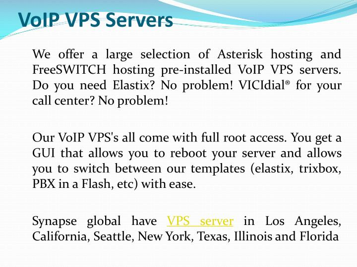 VoIP VPS Servers