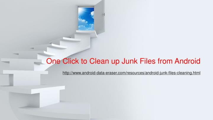 One click to clean up junk files from android