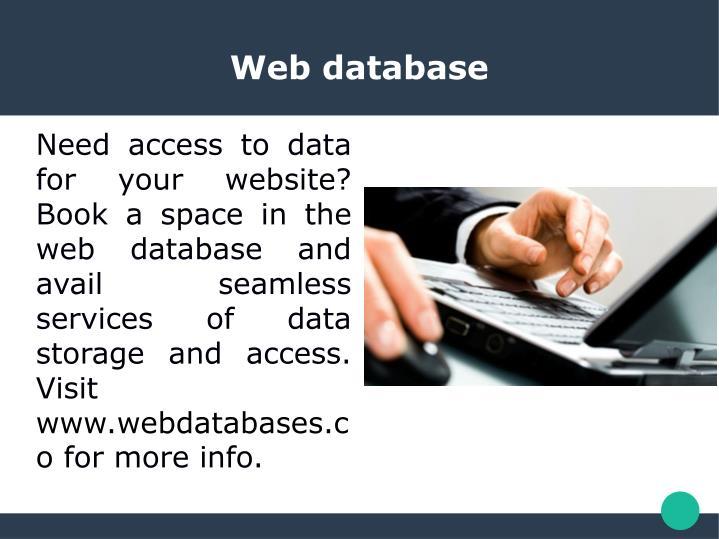 Web database