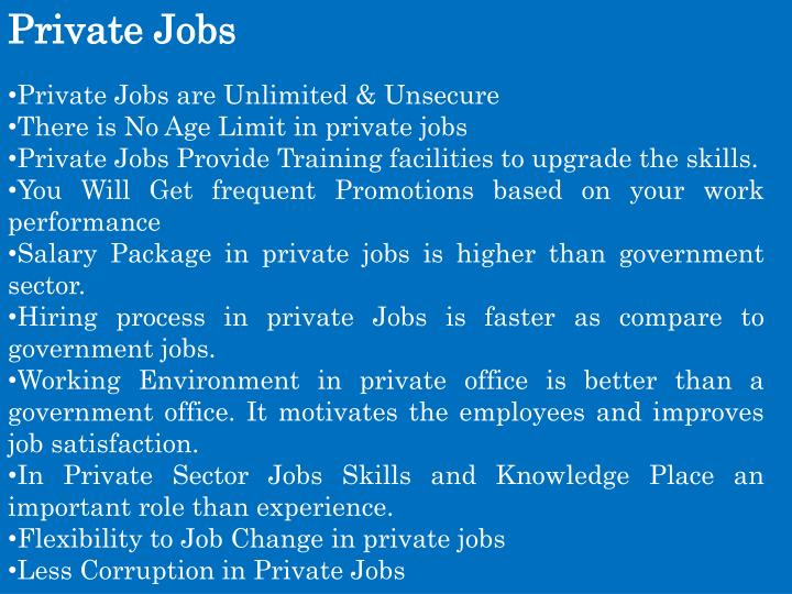 Private Jobs