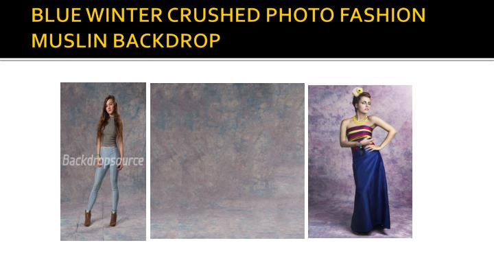 BLUE WINTER CRUSHED PHOTO FASHION MUSLIN BACKDROP