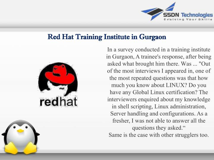 Red Hat Training Institute in Gurgaon