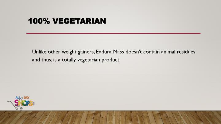 100% vegetarian