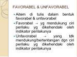 favorabel unfavorabel