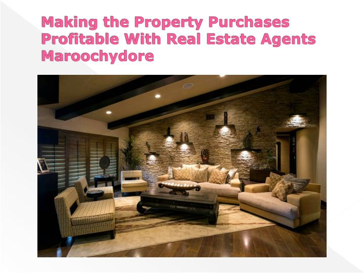 Making the Property Purchases Profitable With Real Estate Agents