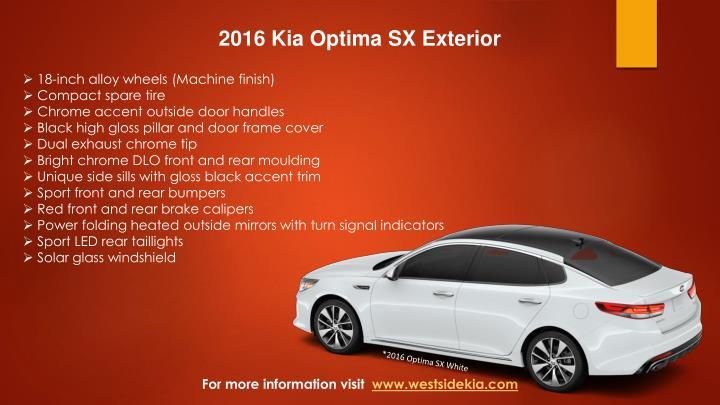 2016 Kia Optima SX Exterior