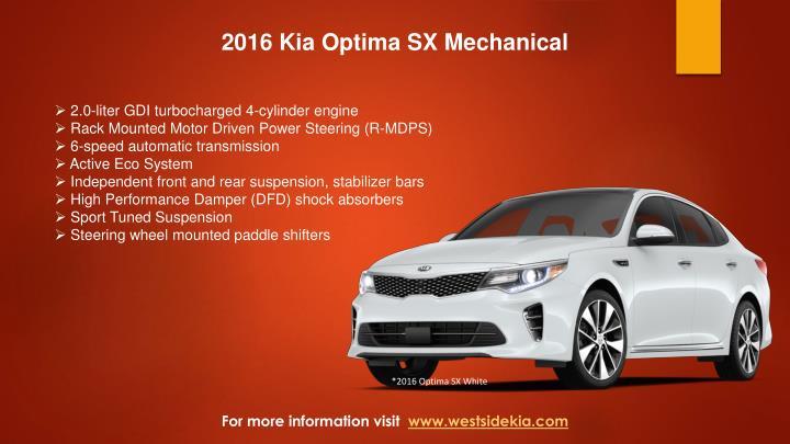 2016 Kia Optima SX Mechanical