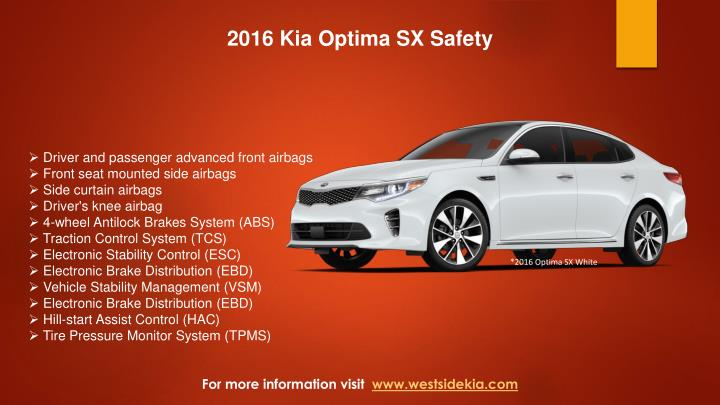 2016 Kia Optima SX Safety