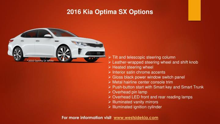 2016 Kia Optima SX Options