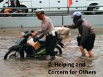 2 helping and corcern for others