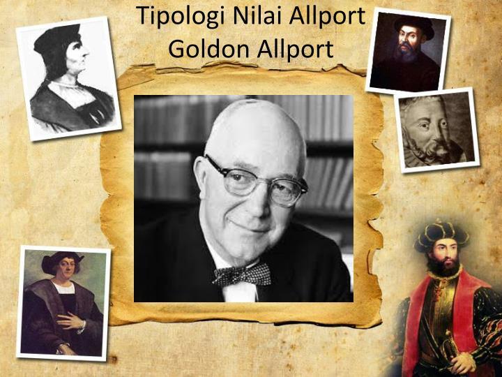 Tipologi Nilai Allport