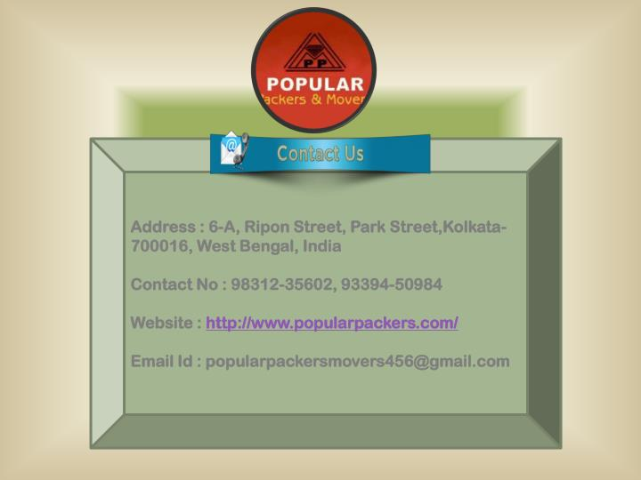 Address : 6-A, Ripon Street, Park Street,Kolkata-700016, West Bengal, India