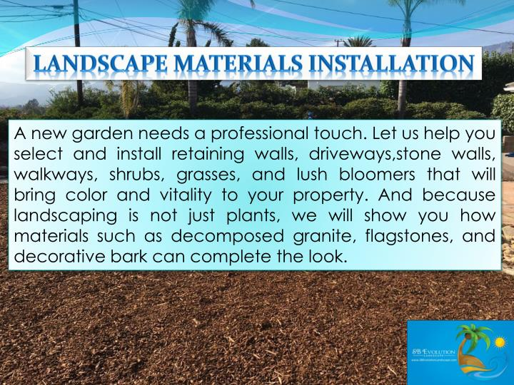 Landscape Materials Installation