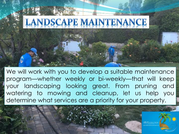 Landscape Maintenance