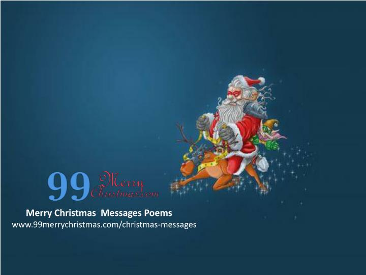 Merry Christmas  Messages Poems