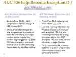 acc 306 help become exceptional acc306aid com10