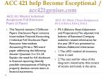 acc 421 help become exceptional acc421genius com5