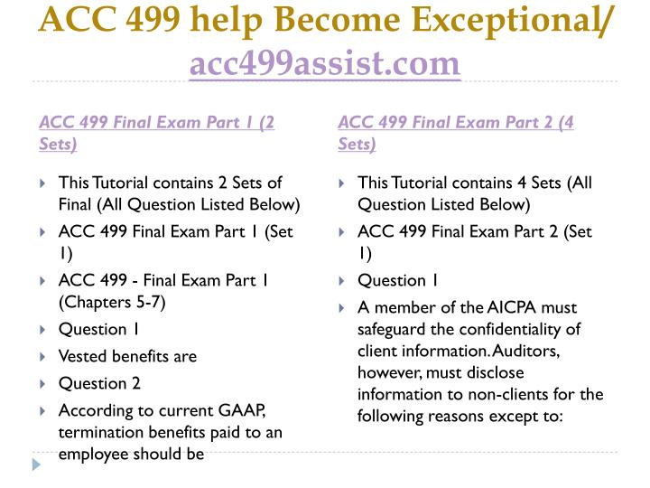 Acc 499 help become exceptional acc499assist com1