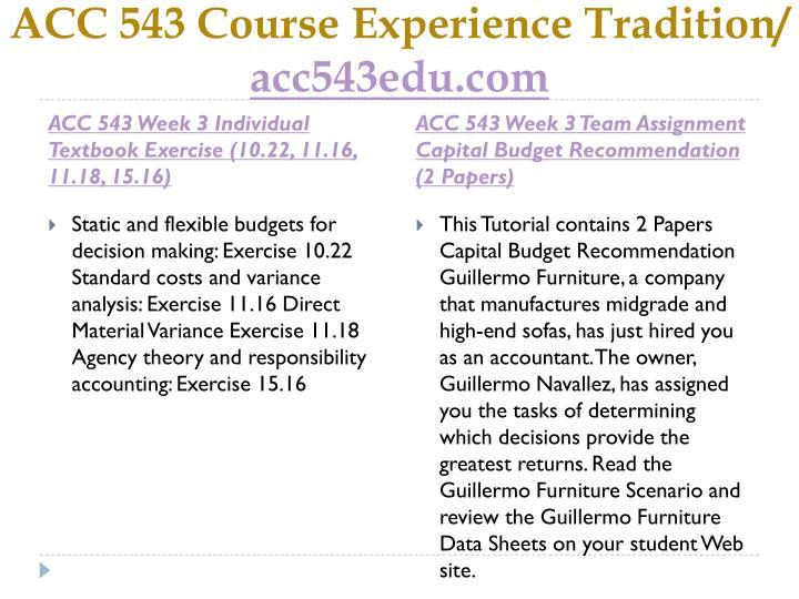 ACC 543 Course
