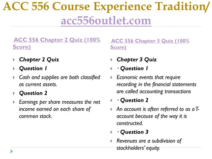 Acc 556 course experience tradition acc556outlet com2