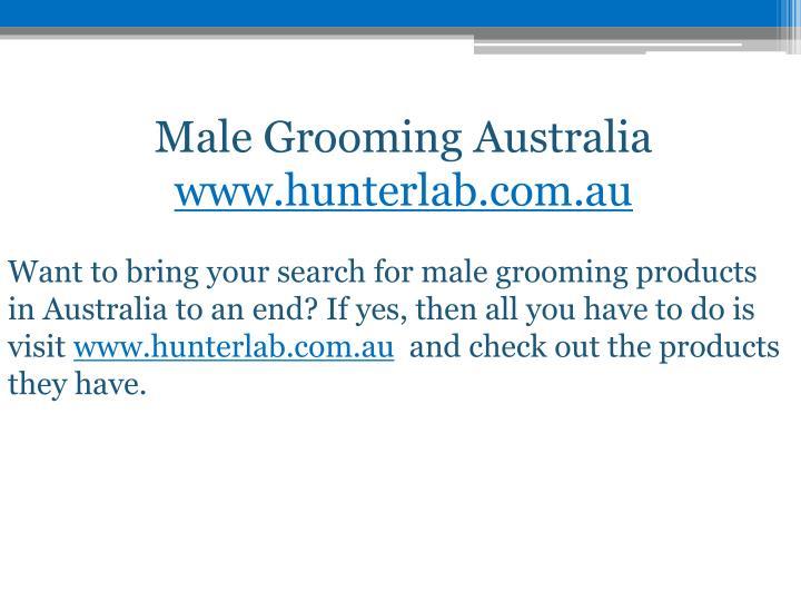 Male Grooming Australia