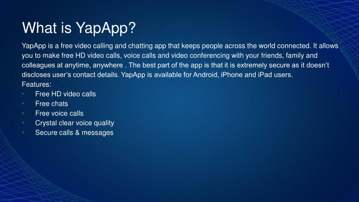 What is YapApp?