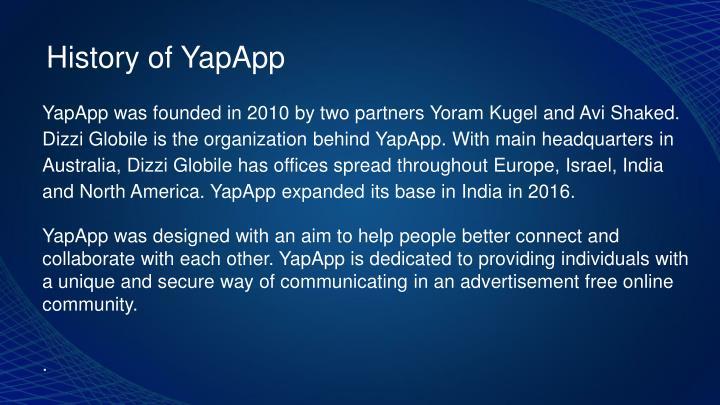 History of YapApp