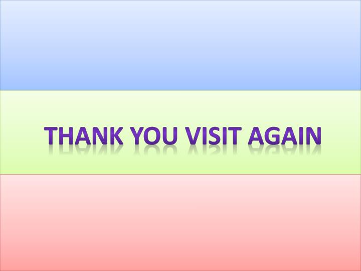 Thank you visit again