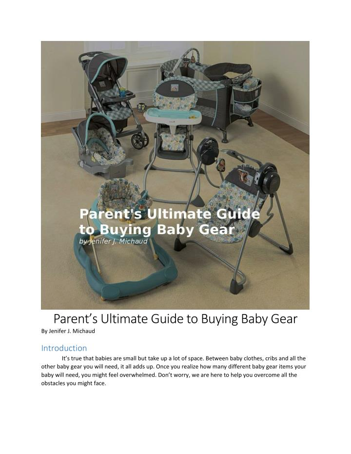 Parent's Ultimate Guide to Buying Baby Gear