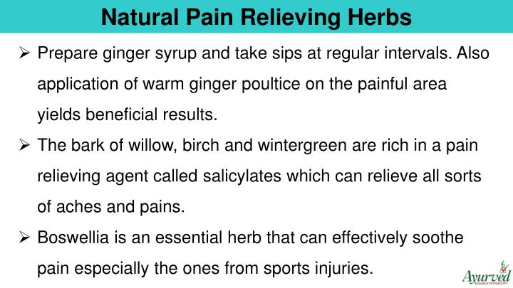 Natural Pain Relieving Herbs