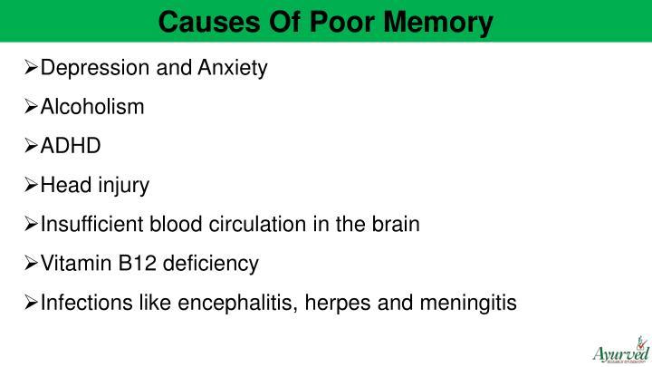 Causes Of Poor Memory
