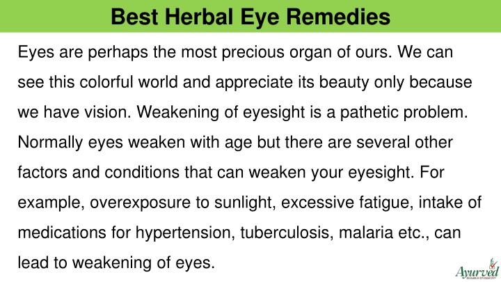 Best Herbal Eye Remedies