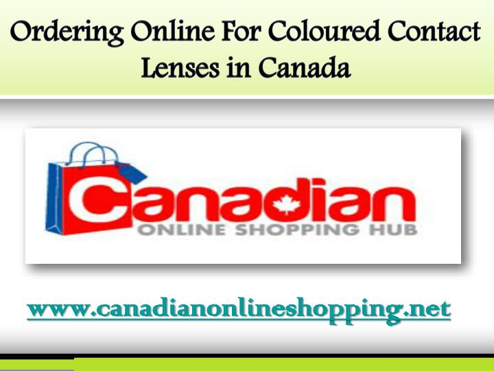 Ordering Online For Coloured Contact Lenses in Canada