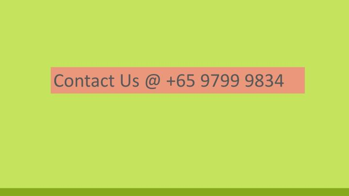 Contact Us @ +65