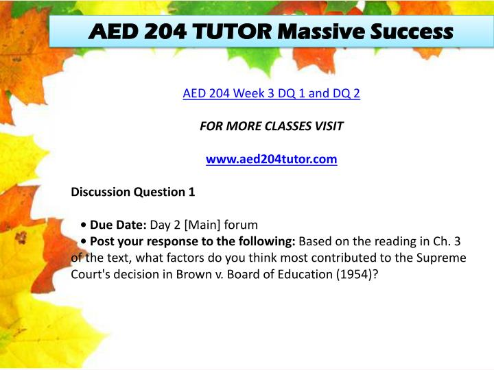 AED 204 TUTOR Massive Success