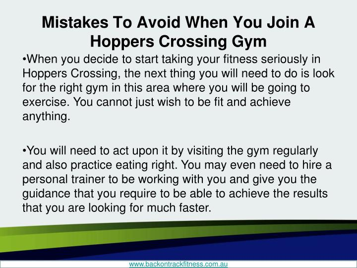 Mistakes to avoid when you join a hoppers crossing gym1