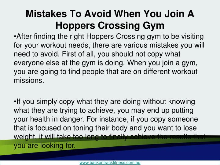 Mistakes to avoid when you join a hoppers crossing gym2