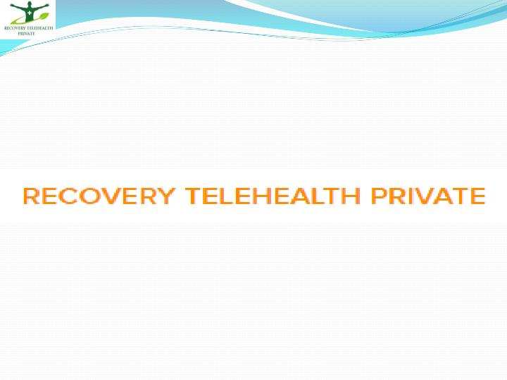 Recovery telehealth alcohol addiction treatment service