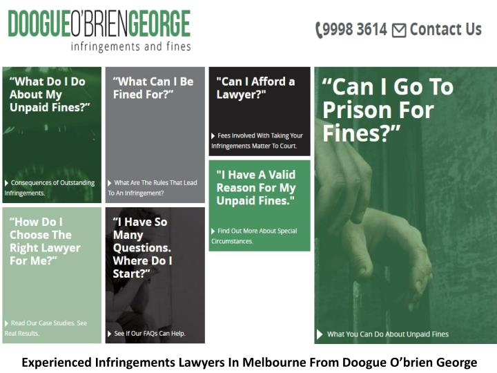 Experienced Infringements Lawyers In Melbourne From Doogue