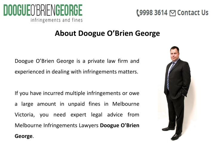 About Doogue O'Brien George