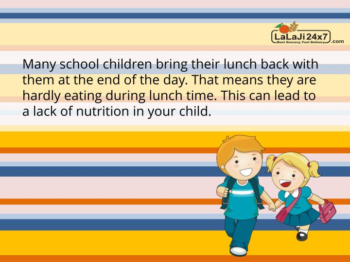 Many school children bring their lunch back with