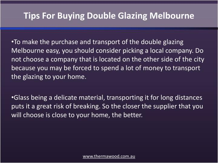 Tips For Buying Double Glazing Melbourne