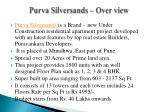 purva silversands over view