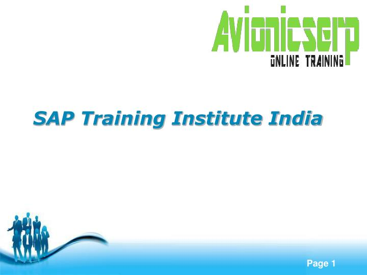 SAP Training Institute India